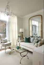 brass and glass coffee table transitional living room para
