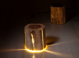 Beautiful Lamps Tree Stump Lamps Provide Beautiful Light And The Creativity Of