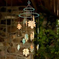 Ornament Chandelier Diy by How To Make A Diy Copper Leaf Mobile The Crafty Blog Stalker