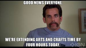Happy Gilmore Meme - good news everyone we re extending arts and crafts time by four