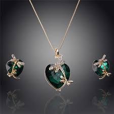 jewelry sets gemstone dragonfly heart jewelry set 0 00 shevoila jewelry