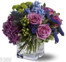 flower delivery denver blue and lavender flower arrangement denver delivery