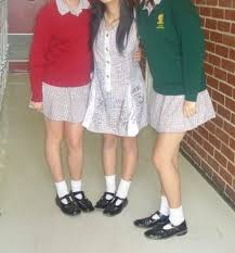 shortest skirts macrob schoolgirls fret about skirts t bar school shoes