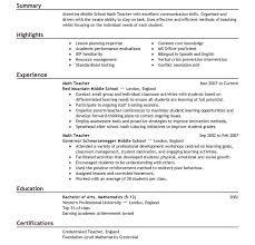 resume templates for teachers teaching resume template a good