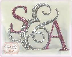 s cake topper ampersand rhinestone wedding cake topper