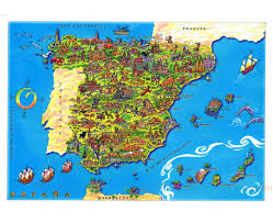 Worlds Of Fun Map by Maps Of Spain Detailed Map Of Spain In English Tourist Map