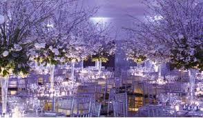 winter wedding decorations wedding decoration ideas purple winter wedding decor with