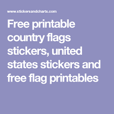 printable country stickers free printable country flags stickers united states stickers and