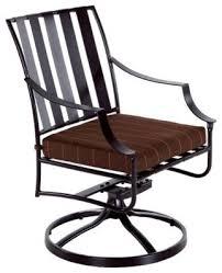 o w lee laredo wrought iron swivel rocker dining chair modern