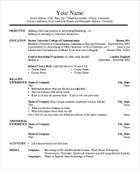 Study Abroad Resume Sample by Sample College Resume 8 Examples In Word Pdf