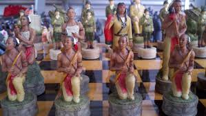 theme chess sets theme chess sets with native americans pieces are all hand