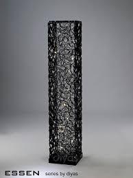 diyas home il70388 dh essen floor lamp 12 light black silver