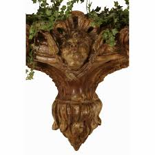 Wall Mount Planter by Italian 18th Century Carved Walnut Wall Mounted Planter