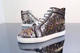 perfect gift good beads sneakers shoes gliter leather high top 18s