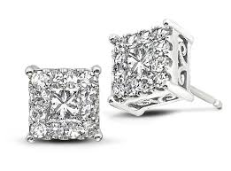 illusion earrings diamond 8 diamond stud earrings that are anything but basic jck