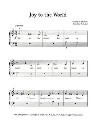 to the world easy printable carol from www