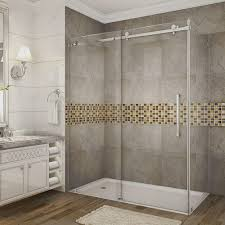 bypass sliding corner shower doors shower doors the home depot
