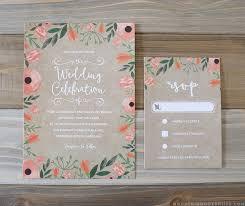 wedding invitations rsvp cards floral diy wedding invitation rsvp card
