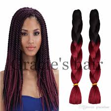 extension braids 24inch ombre hair extensions crochet box braids hair bundles