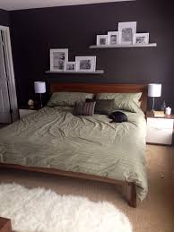 Design Calvin Klein Bedding Ideas Calvin Klein Bedding Ikea Nyvoll With Gray Walls Wall Shelves