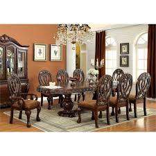 9 piece dining table set furniture of america madison 9 piece traditional dining set in