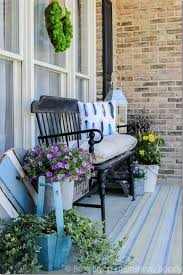 front patio bench outdoorlivingdecor