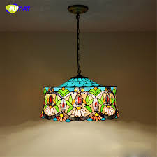 stained glass dining room light fumat stained glass pendant l european style glass art light bar