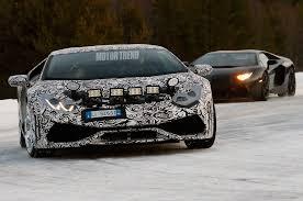 Lamborghini Aventador Huracan - 2015 lamborghini huracan caught winter testing alongside aventador