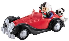 disney cars ferrari disney fisher price little people cruella de vil with car
