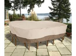 Patio Table Covers Oval by Oval Rect Table U0026 Chairs Cover Med Highland Taylor