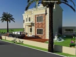 3d front elevation com oman new arabian villa plan design duplex