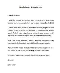 7 retirement resignation letter template free word pdf format