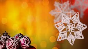 ornaments against warm color blurry background with