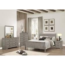 7pc complete grey bedroom suite package deal