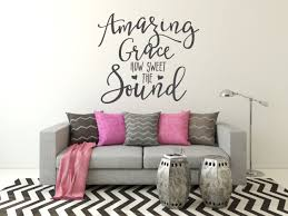 quote wall decals amazing grace wall decals by amanda s quote wall decals