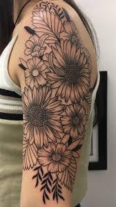 photos flower half sleeve drawing gallery