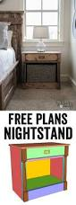 Free Woodworking Project Plans Furniture by Best 25 Nightstand Plans Ideas On Pinterest Diy Nightstand