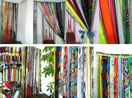 rideau franges motifs multicolores 2 versions photo de