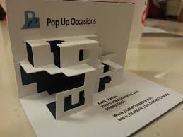 how cool is pop up occasions u0027 pop up business card pop up occasions