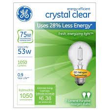 are halogen lights dimmable shop ge 2 pack 53 watt dimmable bright white a19 halogen light