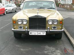 gold rolls royce 1976 rolls royce mk1 in gold withe green leather long mot and tax