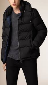 burberry puffer jacket with removable sleeves in black for men lyst