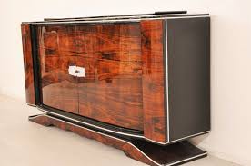 french art deco walnut sideboard from the 1920s original antique