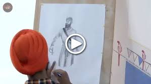 enjoy the beautiful speed sketch of guru gobind singh ji
