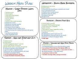 weekly meal plan free printable weekly meal planning templates