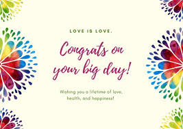 congrats wedding card colorful mandala wedding card templates by canva