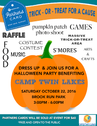 trick or treat for a cause halloween party benefiting camp twin
