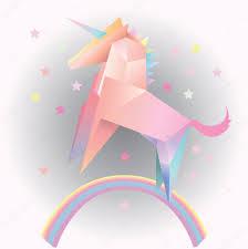 margarita illustration abstract vector unicorn triangle polygonal model origami u2014 stock