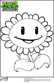 15 coloring pages of plants vs zombies print color craft