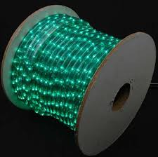 green 150 chasing rope light spools 3 wire 120 volt